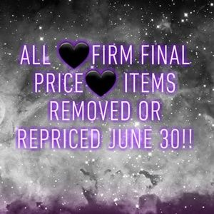 🖤FIRM FINAL PRICE🖤 CLEAN OUT!!